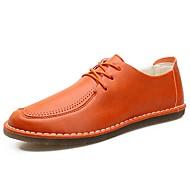 お買い得  メンズオックスフォードシューズ-男性用 靴 レザー 春 / 秋 コンフォートシューズ オックスフォードシューズ ブラック / オレンジ / グレー