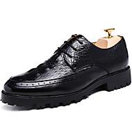 baratos Sapatos de Tamanho Pequeno-Homens Sapatos formais Couro Envernizado Outono / Inverno Oxfords Preto / Marron / Vermelho / Festas & Noite / Cadarço / Festas & Noite