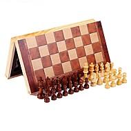 Χαμηλού Κόστους Παζλ 3D-Παιχνίδι σκάκι Σκάκι Εκπαιδευτικό παιχνίδι Κατά του στρες Ορθογώνιο Τετράγωνο Ξύλινος Ξύλο Παιδικά Γιούνισεξ Δώρο