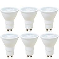 billige Spotlys med LED-6pcs 6 W 600 lm GU10 / MR16 LED-spotpærer 1 LED perler COB Mulighet for demping / Dekorativ Varm hvit / Kjølig hvit 220-240 V / RoHs