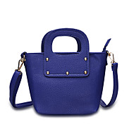 Women Bags All Seasons PU Shoulder Bag for Casual Office & Career Blue Black Red