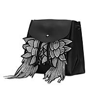 tanie Plecaki-Damskie Torby Poliwęglan plecak Koronka na Casual Na wolnym powietrzu Na każdy sezon Black Gray