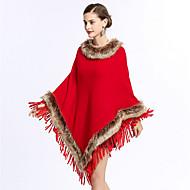 Kvinder Rektangulær Firkantet Uendelighedshalstørklæde,Akryl Orion Imiteret Kashmir Strik Forår/Vinter Vinter Solid