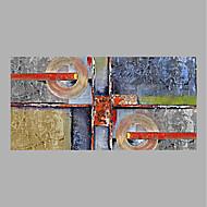 זול ציורי שמן-מצויר ביד מופשט אופקי, מופשט (אבסטרקטי) בַּד ציור שמן צבוע-Hang קישוט הבית פנל אחד