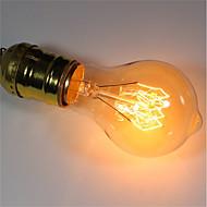 billige Glødelampe-1pc 40W E26/E27 A60(A19) Varm hvit 2200-2700 K Kontor / Bedrift Mulighet for demping Dekorativ Glødende Vintage Edison lyspære 220V-240V