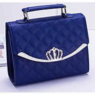 Women Bags PU Shoulder Bag Zipper for Casual All Seasons Black Dark Blue Wine