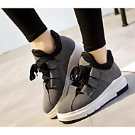 Women's Shoes Cowhide Fall Winter Comfort Sneakers For Casual Khaki Gray Black