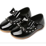 お買い得  フラワーガールシューズ-女の子 靴 PUレザー 春 / 秋 フラワーガールシューズ スニーカー のために ホワイト / ブラック / レッド