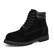 olcso -Férfi cipő PU Ősz Tél Kényelmes Csizmák Fűző Kompatibilitás Hétköznapi Fekete Sárga
