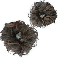 מכירות פוני זנב נשים שיער שיער לחמניה שיער סינתטי להארכת טבעת פרח