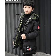 Dječaci Jednobojni kamuflaža Pernata i pamučna podstava Crn Vojska Green