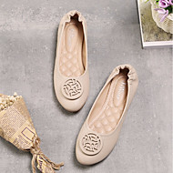 Women's Shoes Synthetic Microfiber PU Spring Fall Comfort Flats Flat Heel Round Toe For Casual Almond Blushing Pink Green Black