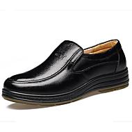 Masculino sapatos Pele Outono Conforto Oxfords Para Casual Preto