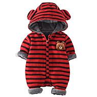 赤ちゃん 男の子 縞柄 コットン100% オーバーオール&ジャンプスーツ ルビーレッド
