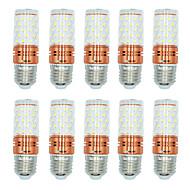 billige Kornpærer med LED-BRELONG® 10pcs 12W 1000 lm E27 LED-kornpærer T 60 leds SMD 2835 Varm hvit Hvit Dual Light Source Color AC 220-240V