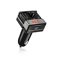 a7 bluetooth fm transmitter bilsæt håndfri dobbelt usb oplader aux mp3-afspiller bil trådløs radio bluetooth adapter