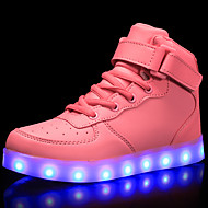 Mädchen Schuhe Lackleder maßgeschneiderte Werkstoffe Winter Herbst Komfort Leuchtende LED-Schuhe Sneakers Walking Schnürsenkel Klett LED
