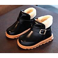 Недорогие -Мальчики обувь Дерматин Осень Зима Удобная обувь Зимние сапоги Ботинки Назначение Повседневные Черный Желтый Красный
