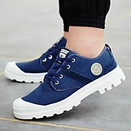 お買い得  大きいサイズ/小さいサイズ 靴-男性用 靴 ツイル 春 / 秋 コンフォートシューズ スニーカー ウォーキング アーミーグリーン / レッド / ブルー