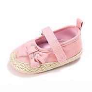 Bebê sapatos Tecido Primavera Outono Conforto Primeiros Passos Sapatos de Berço Tênis Laço Velcro Para Casual Social Rosa claro