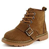 Poikien kengät Nupukkinahka Syksy Talvi Comfort Bootsit Käyttötarkoitus Kausaliteetti Musta Keltainen Armeijan vihreä