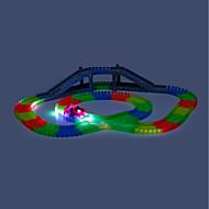 Toy Race Car & Track Sets Ralliauto Maanalainen - pitkä reikä Lelut LED Itsestään valaiseva pimeässä DIY Sähköinen Pojat 166 Pieces