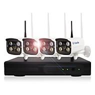 halpa -yanse® 1.3mp 4ch langaton nvr setit 960p vedenpitävä ja yökuva wifi ip kameran turvajärjestelmä