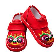 Děti Obuv Plátno Jaro Podzim První botičky Bez podpatku pro Ležérní Černá Červená Modrá Černočervená