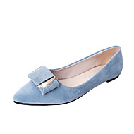 Women's Shoes PU Summer Comfort Flats Low Heel Pointed Toe For Casual Dress Black Gray Blue Pink
