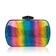 baratos Clutches & Bolsas de Noite-Mulheres Bolsas PU Bolsa de Festa Botões Arco-íris