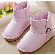 baratos Sapatos de Menina-Para Meninas Sapatos Courino Inverno Conforto / Botas de Neve Botas para Preto / Rosa claro / Khaki
