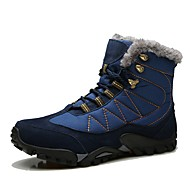 Men's Shoes Suede Winter Fluff Lining Comfort Snow Boots Boots Hiking Shoes Mid-Calf Boots Lace-up For Casual Outdoor Khaki Blue Black