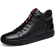 Herre sko Nappa Lær Lær Vår Høst Lette såler Støvler Til Avslappet Svart