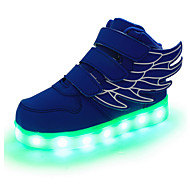 cheap -Boys' Leather Sneakers Little Kids(4-7ys) / Big Kids(7years +) Comfort / Novelty / Light Up Shoes Magic Tape / LED Red / Green / Blue Spring / Fall / Rubber