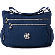 cheap Shoulder Bags-Women's Bags Polyester Crossbody Bag Zipper Dark Blue / Fuchsia / Light Purple