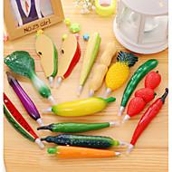 1kpl hedelmä muoviset kuulakärkikynät luovia vihanneksia kuulakärkikynä lapsille lahja ramdon väri