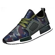 Heren Schoenen Tule Lente Herfst Lichtzolen Sneakers Veters Voor Causaal Zwart Groen