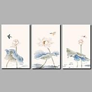 billige Strukket Lærred Tryk-Strukket Lærred Print Klassisk Rustikt, Tre Paneler Lærred Horisontal panorama Print Vægdekor Hjem Dekoration
