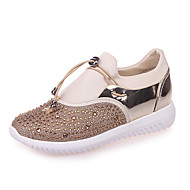 Women's Shoes PU Spring Fall Comfort Sneakers for Casual Outdoor Gold Black Silver