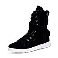 Férfi cipő Kasmír Tél Katonai csizmák Csizmák Fűző Kompatibilitás Hétköznapi Fekete Sötétkék Khakizöld