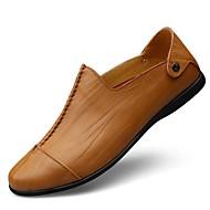 Homme Chaussures Similicuir Cuir Printemps Automne Confort Mocassins et Chaussons+D6148 Combinaison Pour Décontracté Noir Jaune Brun