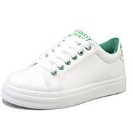 baratos Sapatos Femininos-Mulheres Couro Ecológico Outono / Inverno Conforto Tênis Preto / Vermelho / Verde