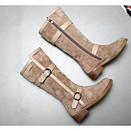 女の子 靴 合成マイクロファイバーPU 秋 冬 スノーブーツ ブーツ 用途 カジュアル ブラック レッド カーキ色