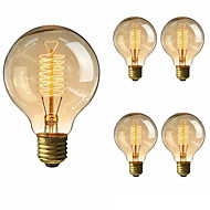 5pcs 40W E27 G80 Warm White Incandescent Vintage Edison Light Bulb AC220-240V
