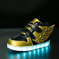 cheap Boys' Shoes-Boys' Shoes Synthetic Winter Fall Light Up Shoes Comfort Sneakers Animal Print LED Hook & Loop for Casual Outdoor Gold Blue Pink