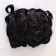 luonnolliset hiusrajan korvausjärjestelmät, swiss-pitsi, jossa npu luonnolliset värit miesten toupee hiuslisäkkeet.