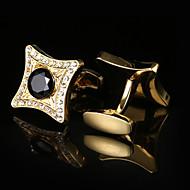 tanie Akcesoria dla mężczyzn-Geometric Shape Golden Manžetové knoflíčky Wzór Męskie Biżuteria kostiumowa