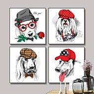Dyr Tegneserie Frame Art Veggkunst,Stål Materiale med ramme For Hjem Dekor Rammekunst Stue
