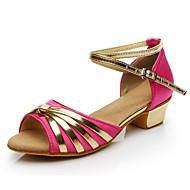 baratos Sapatilhas de Dança-Mulheres Sapatos de Dança Latina Materiais Customizados Esporte & lazer / Salto Salto Baixo Personalizável Sapatos de Dança Fúcsia
