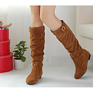 cheap Women's Boots-Women's Shoes Nubuck leather Fall Winter Comfort Fashion Boots Boots Knee High Boots For Casual Dark Brown Yellow Black